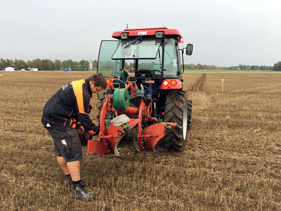 Young ploughers competition 2018 Hartinger in Aktion - Foto Dick